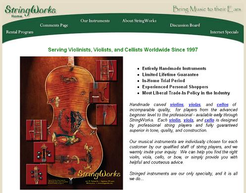StringWorks Homepage