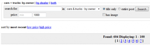 Cars Under 1000 - Craigslist Search