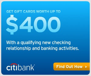 Citigold Checking Account $400 Bonus Offer