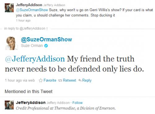 Gerri Willis Response Tweet