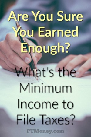 Are You Sure You Earned Enough? [Minimum Income to File Taxes]
