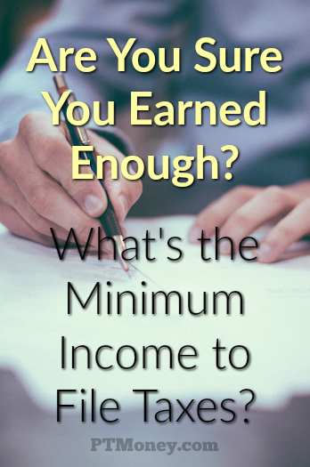 There are a series of questions you should answer to help you come up with the minimum income to file taxes that applies to you. Let's start with the IRS questionnaire found on their