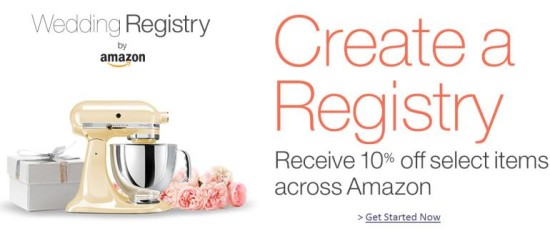 Amazon Wedding Registry 10 Percent Off