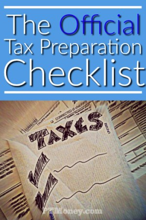 The Official PT Money Tax Preparation Checklist
