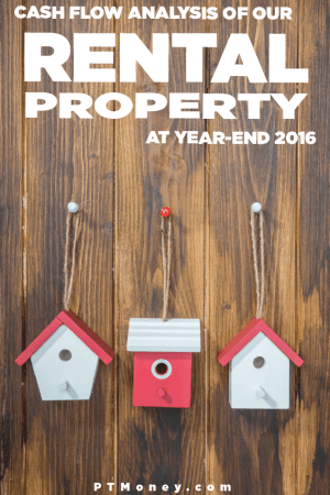 The Cash Flow Analysis for Our Rental Property at Year End 2016