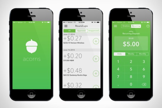 acorns automatic savings app