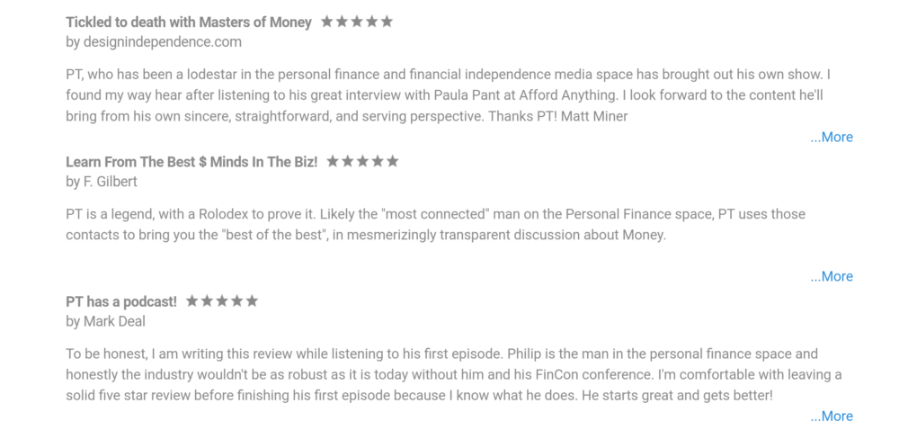 Reviews of Masters of Money