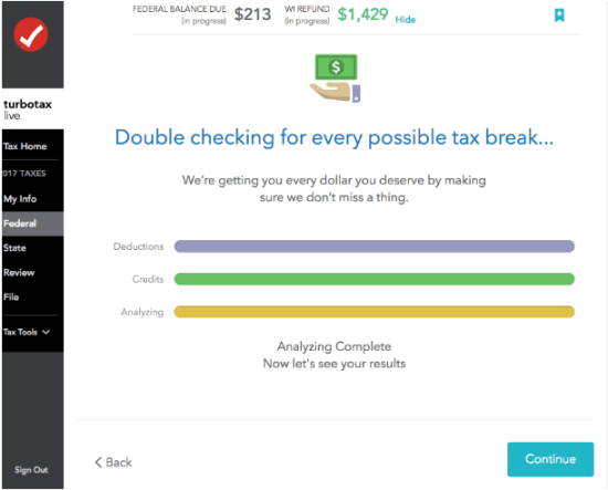 TurboTax Live Double Check