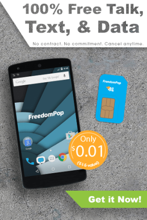 Get 100% Free Talk, Text & 4GB Data for One Penny with FreedomPop