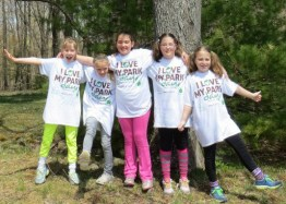 Troop 1101 volunteers at Grafton Lakes State Park for I Love My Park Day 2013