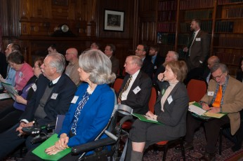 Park Advocacy Day participants listen to the morning program