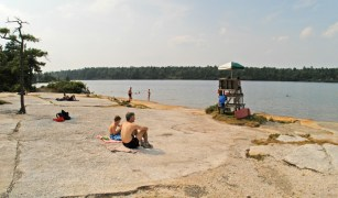 Lake Awosting, Minnewaska State Park (Palisades Region): One cannot drive up to Lake Awosting unlike the more popular Lake Minnewaska beach, thus only those who are ambitious enough to hike it or bike it are treated to its serenity.