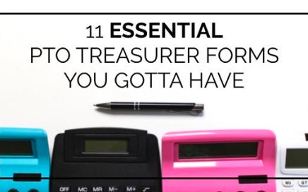 11 PTO Treasurer forms you'll need to stay organized and do your job as Treasurer of your PTO or PTA