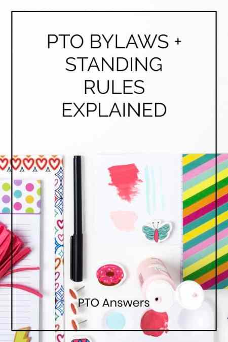 pto bylaws and standing rules explained