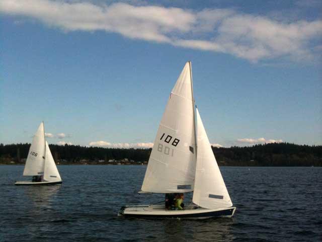PT High School Sailing Team at the Silverdale team racing regatta. Photo by Erik Coburn