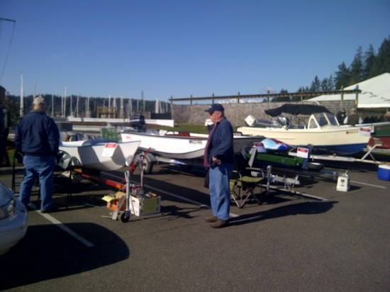 Customers peruse the goods at last year's show. Photo courtesy of Port Ludlow Marina