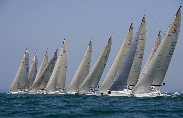 Swan 42's At The Start Line ( Photo by Rolex /Dan Nearny )