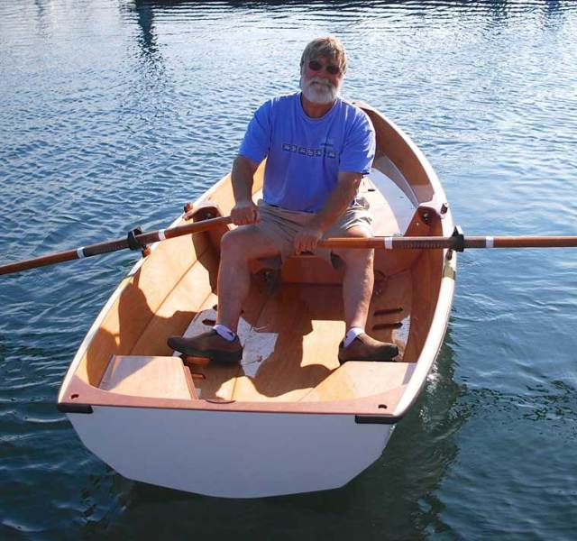 Ted in a PT11. Photo from the Port Townsend Watercraft blog, photo by Ashlyn Ecelberger Brown