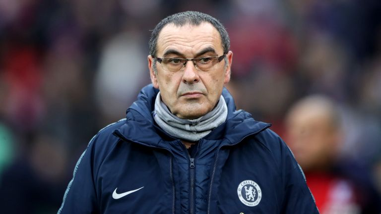 Chelsea's Sarri unhappy with sorry state of Kiev pitch