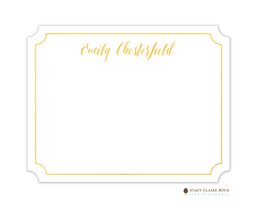 Noteworthy Foil Pressed Flat Note Stacy Claire Boyd
