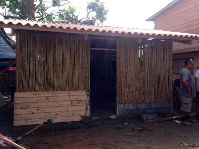 House being built in the Guna Community