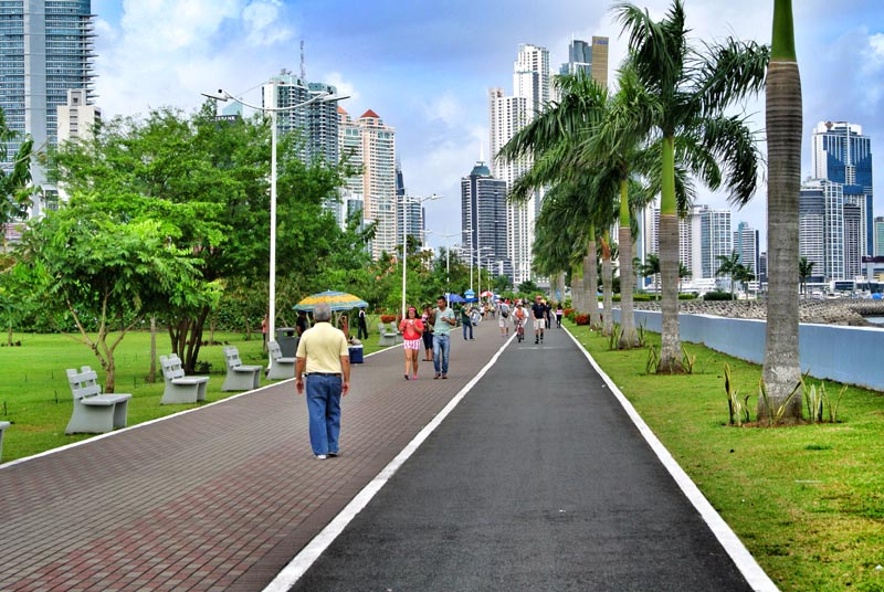 Cinta Costera park system in Panama City, Panama