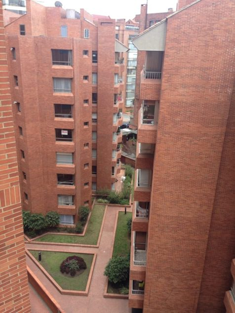 View from my bedroom - Bogot¡ is mostly made up of low-rise brick buildings