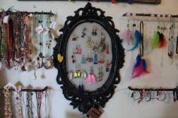 Handmade jewelry in the gift shop