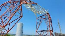 Torre instalada no bairro Bela Vista