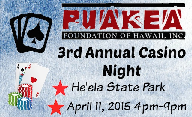 banner for Puakea Casino Night 2015