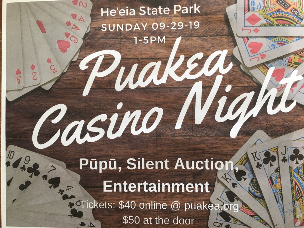 Puakea Casino Night fundraiser graphic