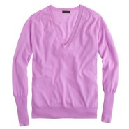 neon orchid vneck sweater