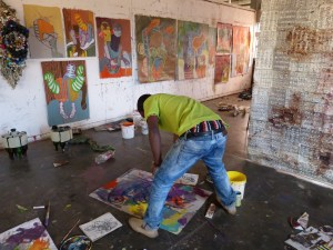 Wycliffe at work in studio