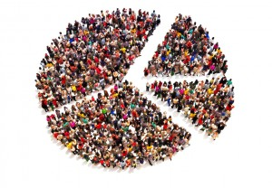demographic people population pie chart future society work