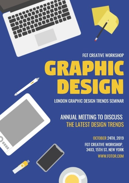 online graphic design seminar poster