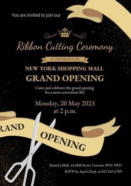 online bread store opening invitation