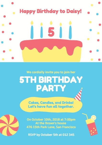 online birthday party invitation