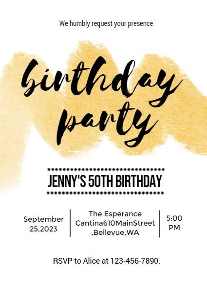 online 35th birthday party invitation
