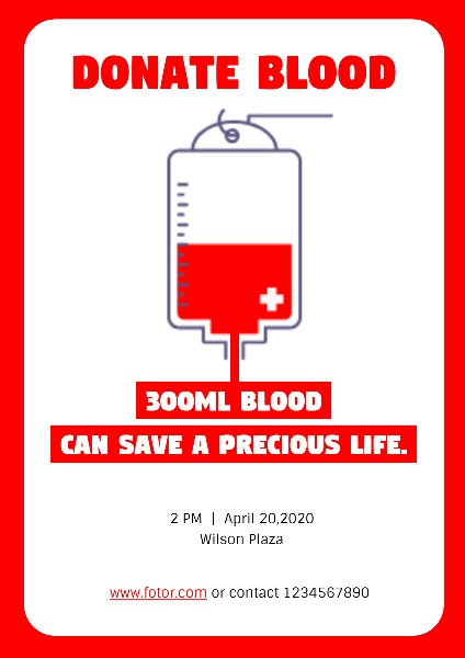 Online Blood Donation Poster Template Fotor Design Maker