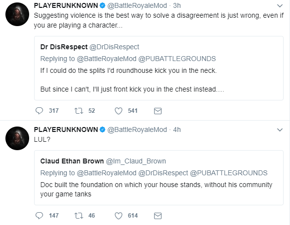 DrDisrespectLIVE banned by PLAYERUNKNOWN