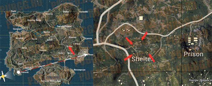 Где находятся бункеры в PUBG Mobile