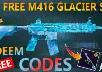 PUBG Mobile M416 Glacier Skin Permanent Redeem Codes