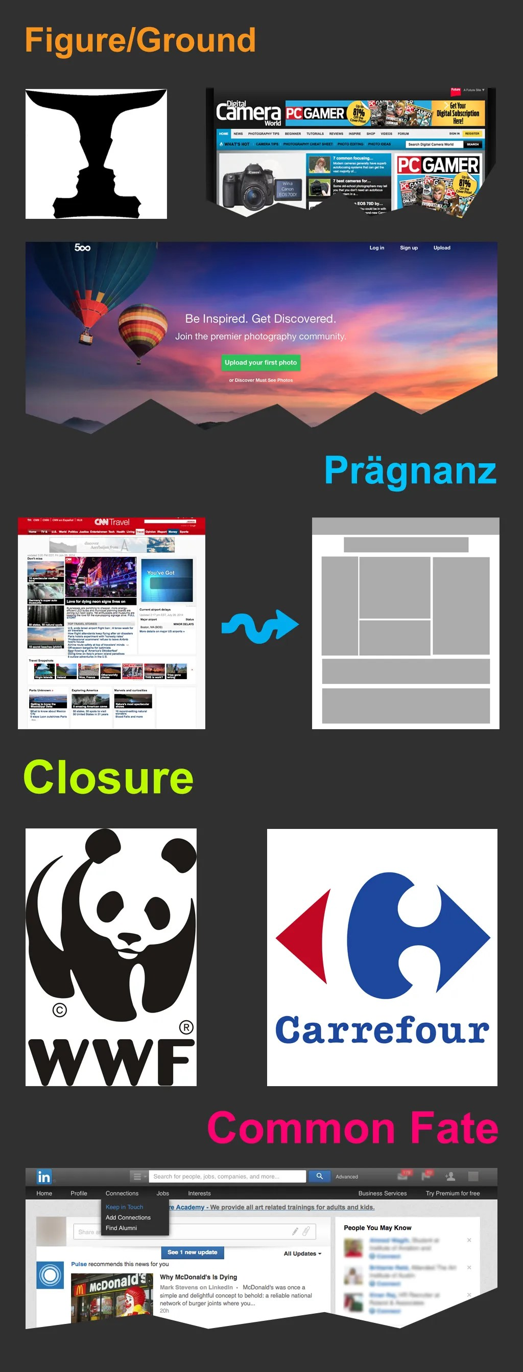 The Laws Of Figure Ground Pragnanz Closure And Common