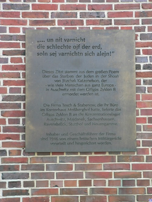 Memorial plate at the Messberghof