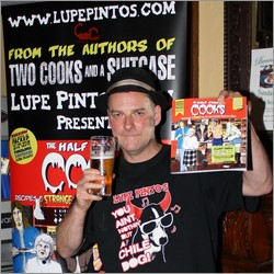 Dougie Bell at the launch of Half-Canned Cooks in Bennet's Bar 2010