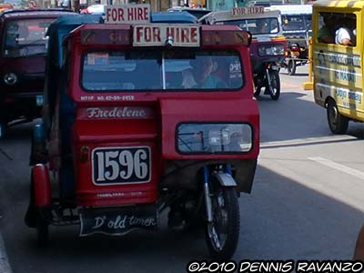 Tagbilaran City tricycles