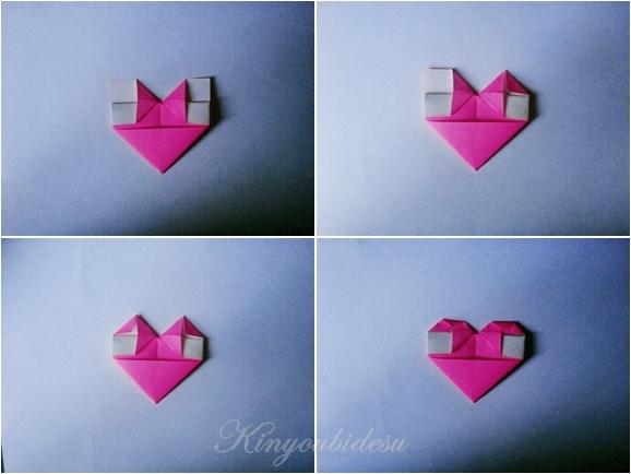 origami herz anleitung kinyoubi desu. Black Bedroom Furniture Sets. Home Design Ideas
