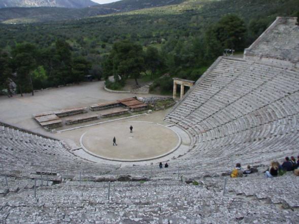 Het theater van Epidauros