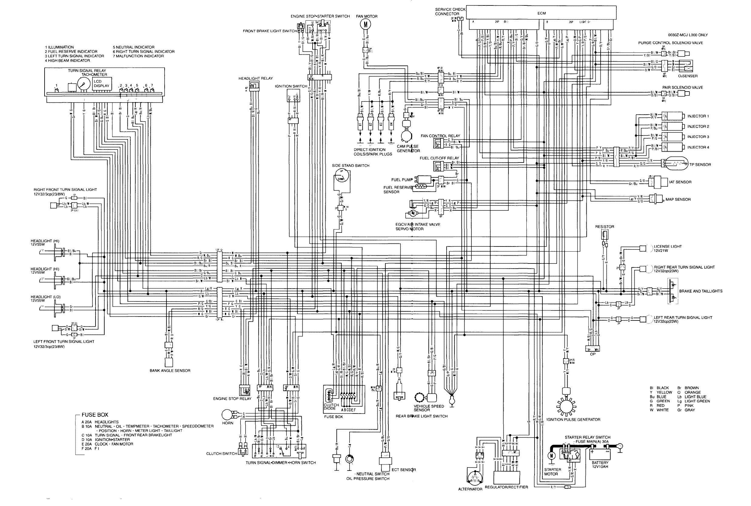 2003 Honda Cbr600rr Wiring Diagram. Honda. Auto Wiring Diagram