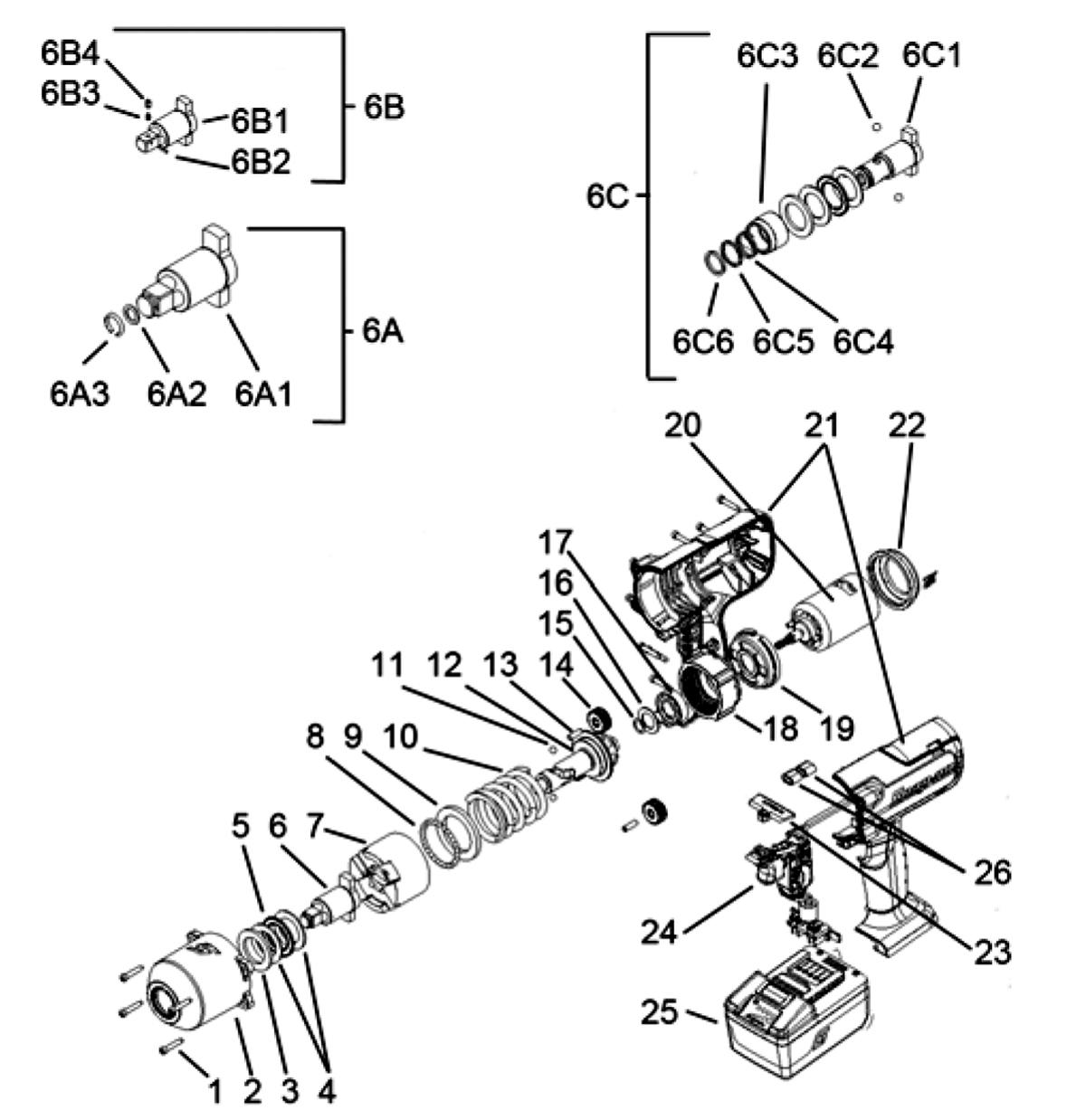 Impact Wrench Cordless Lithium 18 Volt 1 2 Drive U S
